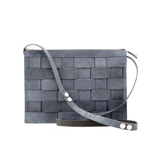 Eduards Accessories Näver Collection Small Shoulder Bag Navy vaxed