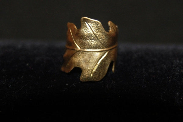 Bohemia Oakleaf Ring in Brass or Silver