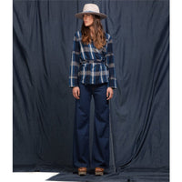 K.O.I Jane Flares Glory Blue Creased