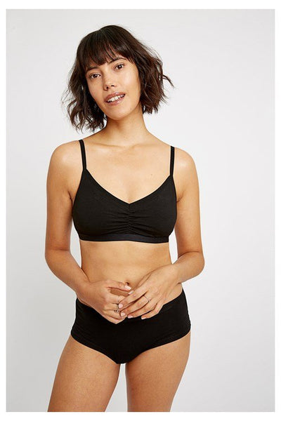 People Tree Black Soft Bra Top