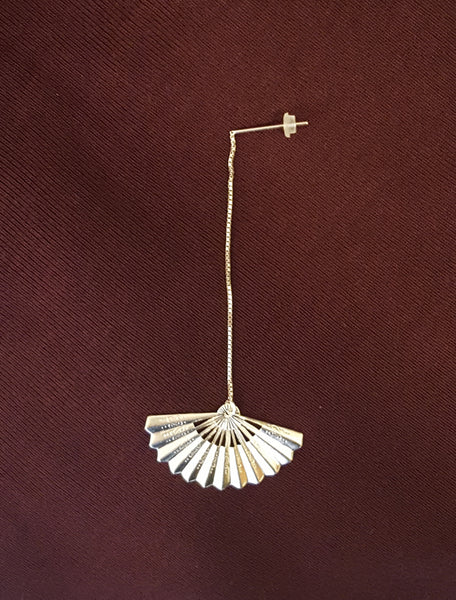 Bohemia Fan earring on chain silver