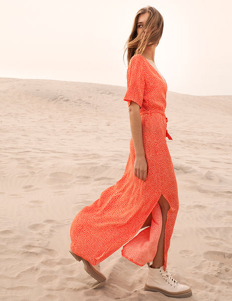 Mbym Semira Dress in Charlize in Coral or Blue Print - 20% REA