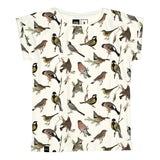 Dedicated T-shirt Visby Autumn Birds Off-White