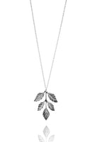 BoheMia Thin Fern Necklace in Brass or Silverplated Brass