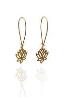 Bohemia Pair of Small Lotus Earrings