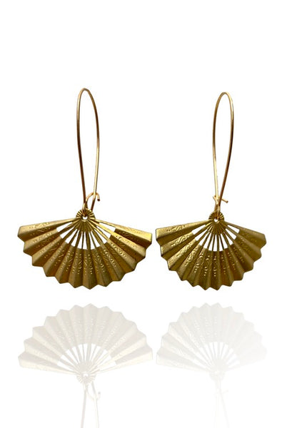 Bohemia Pair of Fans Earrings, Solfjäder