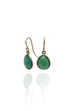 Bohemia Stone Pendant Earrings in Green Onyx