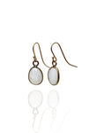 Bohemia Stone Pendant Earrings in Moonstone