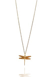 Bohemia Small Dragonfly Necklace in Brass