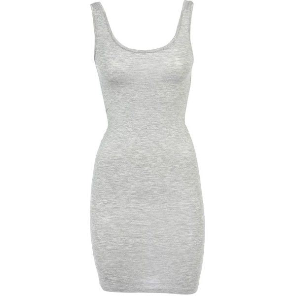 Mbym Lina Dress in Light Grey Melange