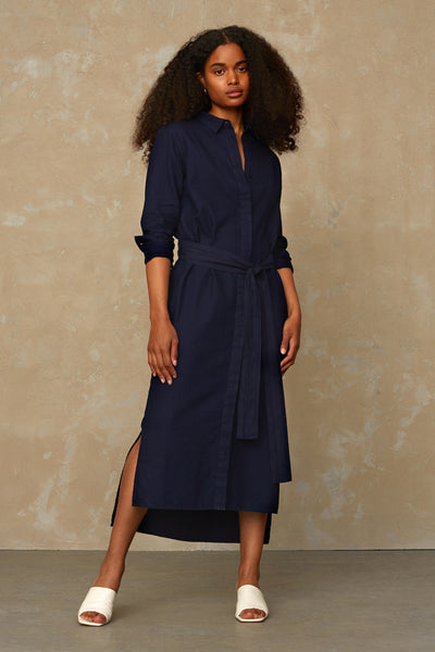 Kings of Indigo Maggy Dark Indigo Shirt Dress