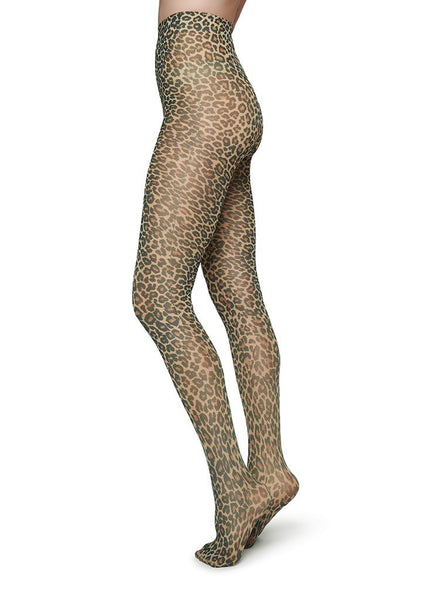 Swedish Stockings Sofia Leo Tights in 60 Den in Brown/Black