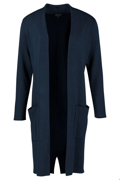 Zilch Cardigan Long in Navy