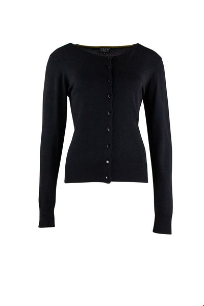 Zilch Cardigan Round Neck Black