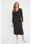 People Tree Imogen Dot Wrap Dress in Black - 30% rabatt