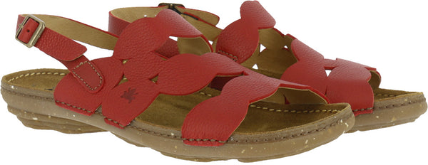 El Naturalista Soft Grain Tibet / Torcal Red Sandal Sling back 5223