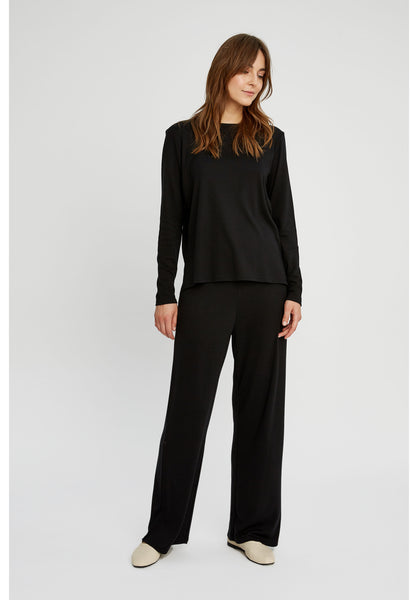 People Tree Roxy Wide Leg Pants in Black  - 20% REA