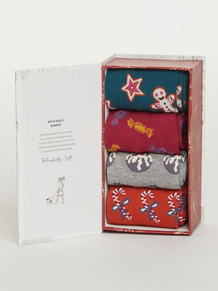 Thought Christmas Treats Socks Set of Four Box