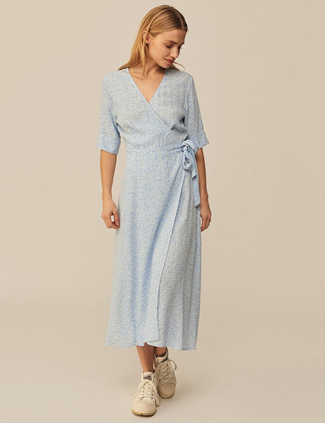 Shubie dress, Undine print in blue, Message mbyM
