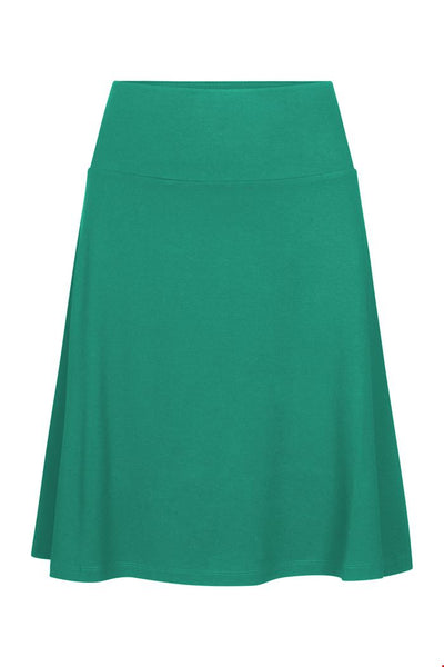 Zilch A-Line Skirt in Emerald Green
