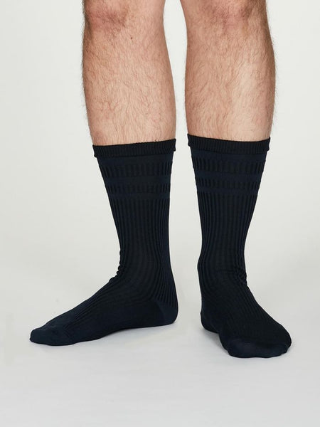 Thought Benedict Seacell™ Diabetic Socks in Navi