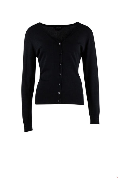 Zilch Cardigan V-Neck Black