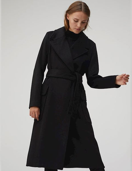 Mbym Toby Long Coat in Night sky Melange