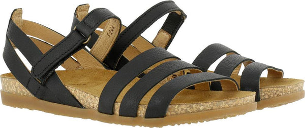El Naturalista Soft Grain Sandal in Black Zumaia 5244 - REA 30%