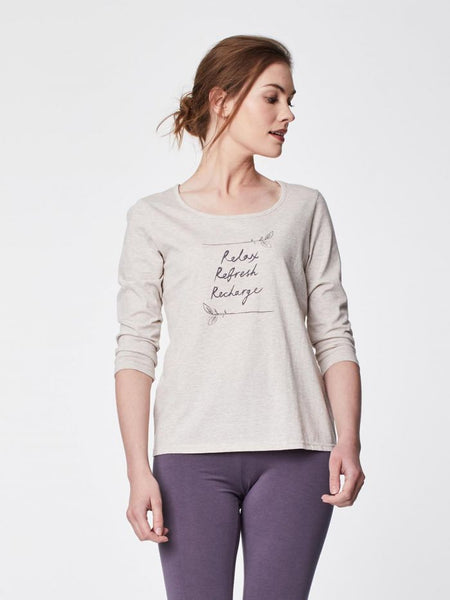Thought 3/4 Sleeve Organic Cotton Relaxed Fit Tee