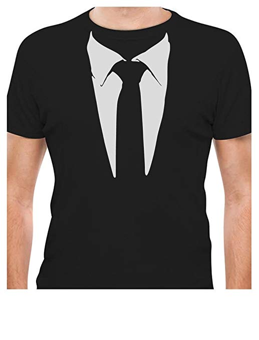 Printed Suit & Tie T-Shirt