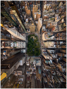"Looking down at Madison Square, NYC -  24"" x 32"" Aluminum Print"