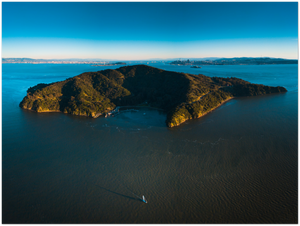 "Sailing past Angel Island - 24"" x 32"" Aluminum Print"