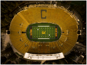 "California Memorial Stadium, UC Berkeley - 24"" x 32"" Aluminum Print"