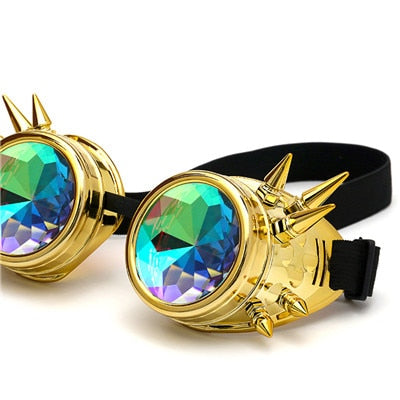 Round Kaleidoscope Rave and Festival Sunglasses!