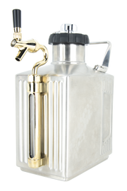 128 oz. Brushed Finish Growler with CO2 Cap and Tap