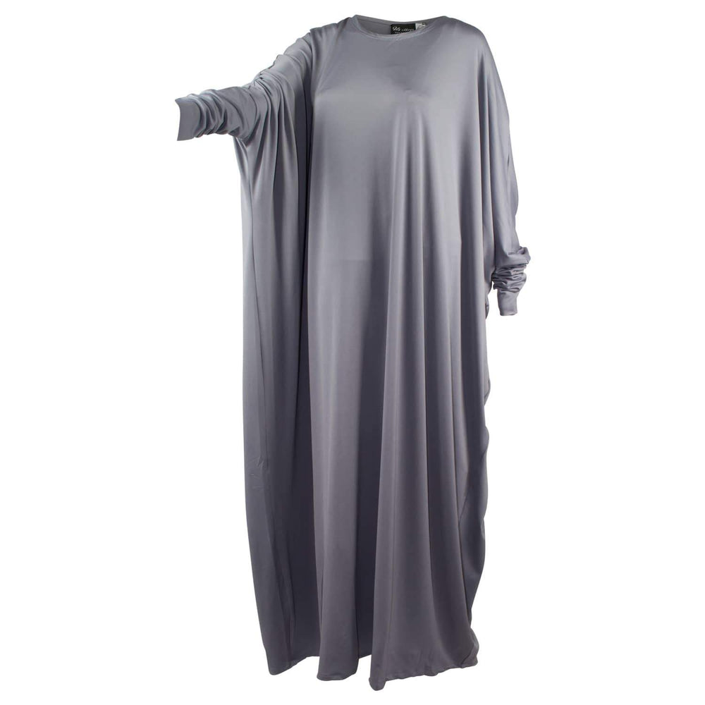Cloudy Grey x Butterfly Abaya