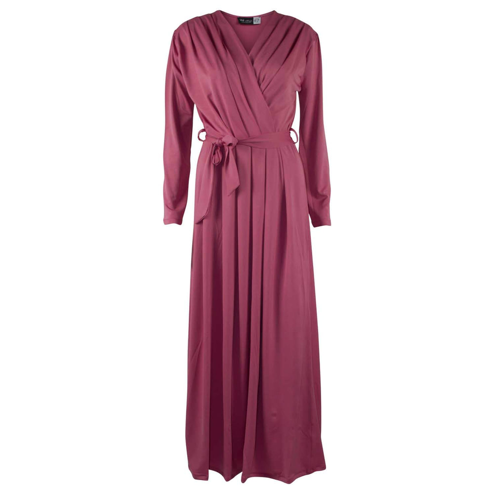 Dusty Pink x Wrap Abaya | Modestique