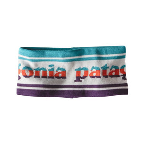 Patagonia Lined Knit Headband - Park Stripe Birch White