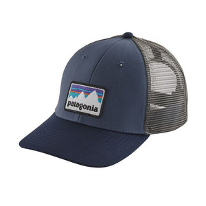 Patagonia Shop Sticker Patch LoPro Trucker Hat - Dolomite Blue
