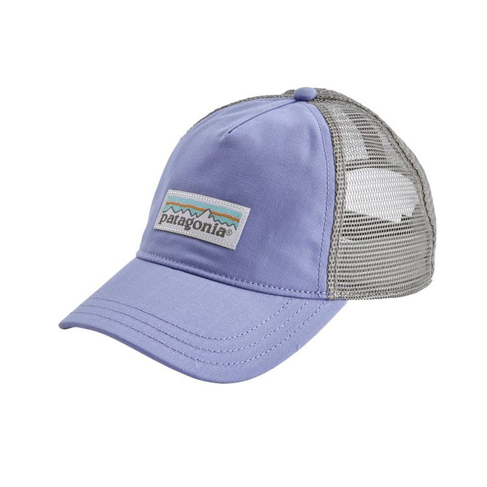 Patagonia Women's Pastel P-6 Label Layback Trucker Hat - Light Violet Blue