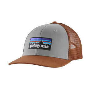 Patagonia P-6 LOGO Trucker Hat (mid crown) - Drifter Grey