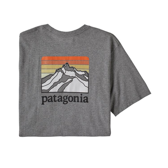 Patagonia Men's Line Logo Ridge Pocket Responsibili-Tee - Gravel Heather