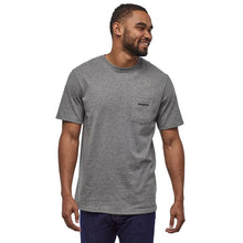 Load image into Gallery viewer, Patagonia Men's Line Logo Ridge Pocket Responsibili-Tee - White