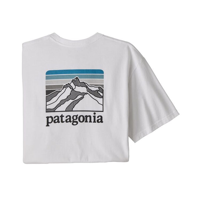 Patagonia Men's Line Logo Ridge Pocket Responsibili-Tee - White