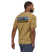 Load image into Gallery viewer, Patagonia Men's P-6 Logo Organic T-Shirt - Classic Tan
