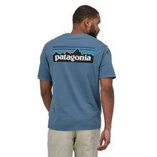 Load image into Gallery viewer, Patagonia Men's P-6 Logo Organic T-Shirt - Pigeon Blue
