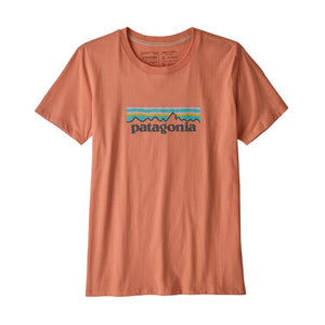 Patagonia Women's Pastel P-6 Logo Cotton Crew - Mellow Melon