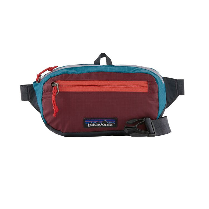 Ultralight Travel Mini Hip Pack 1L - Patchwork Roamer Red
