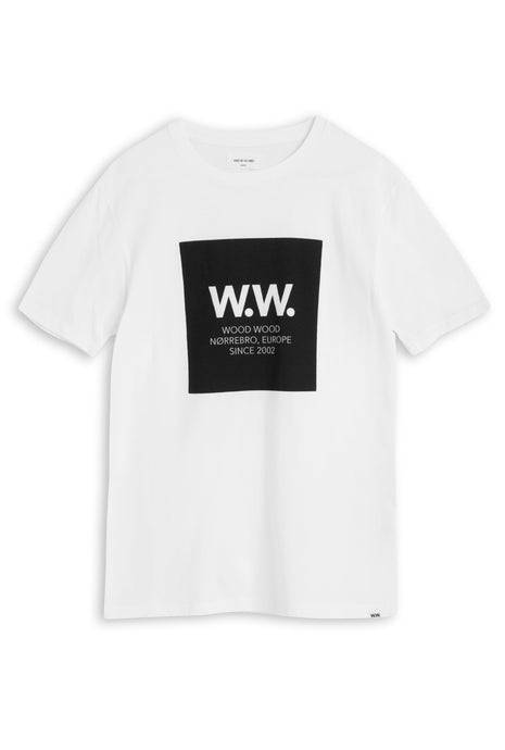 Wood Wood WW Square T-shirt -Bright White