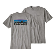Load image into Gallery viewer, Patagonia Men's P-6 Logo Responsibili-Tee - Gravel Heather